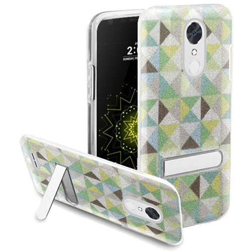 Insten Checker Hard Glitter TPU Case w/stand For LG Grace 4G/Harmony/K20 Plus/K20 V, Multi-Color