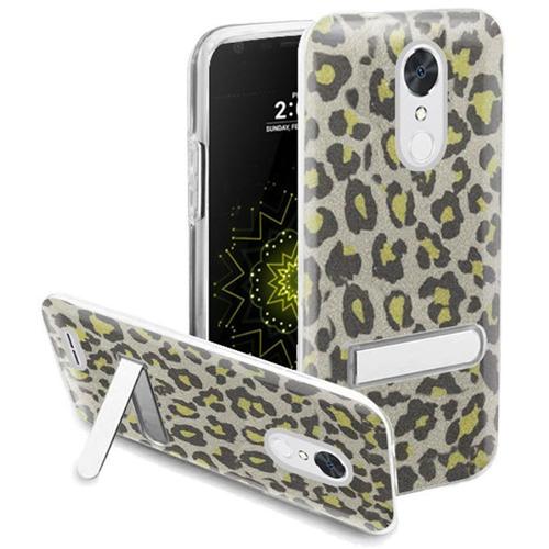 Insten Leopard Hard Glitter TPU Case w/stand For LG Grace 4G/Harmony/K20 Plus/K20 V, Neon Green