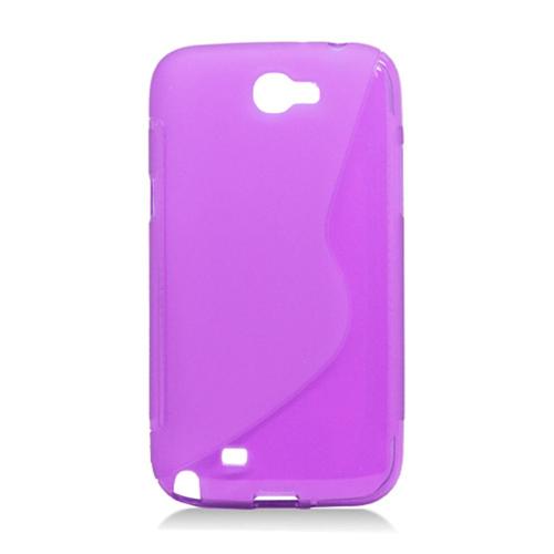 Insten S Shape Gel Cover Case For Samsung Galaxy Note II, Purple
