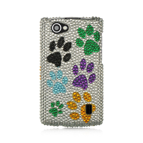 Insten Dog Paws Hard Bling Case For LG Optimus M+, Multi-Color