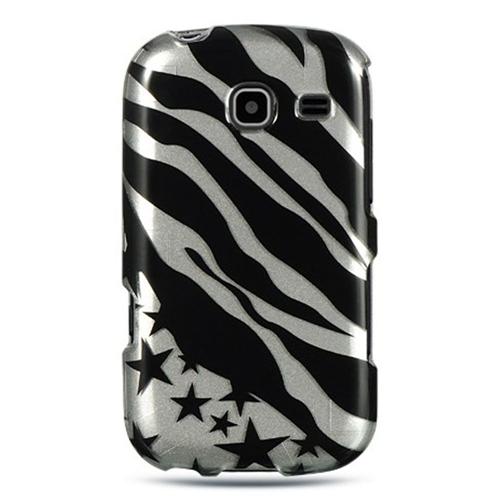 Insten Zebra/Star Hard Plastic Case For Samsung Freeform III R380, Black/Silver