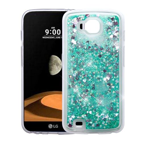 Insten Quicksand Hearts Hard Glitter Cover Case For LG V9, Green