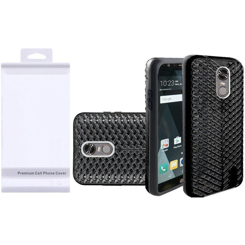 Insten ZigZag Hard Hybrid TPU Case For LG Stylo 3, Black