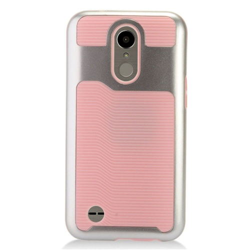 Insten Slim Hard TPU Case For LG Harmony/K10 (2017)/K20 Plus/K20 V, Pink/Silver