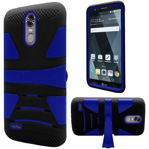Insten Hard Hybrid TPU Cover Case w/stand For LG Stylo 3, Black/Blue