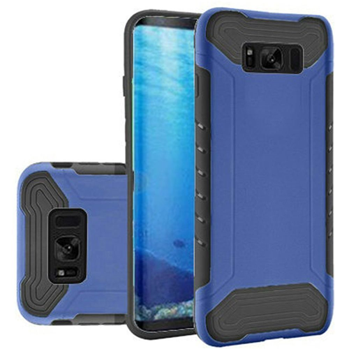 Insten Slim Armor Hard Hybrid Plastic TPU Case For Samsung Galaxy S8, Blue/Black
