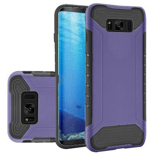 Insten Slim Armor Hard Hybrid Plastic TPU Case For Samsung Galaxy S8, Purple/Black