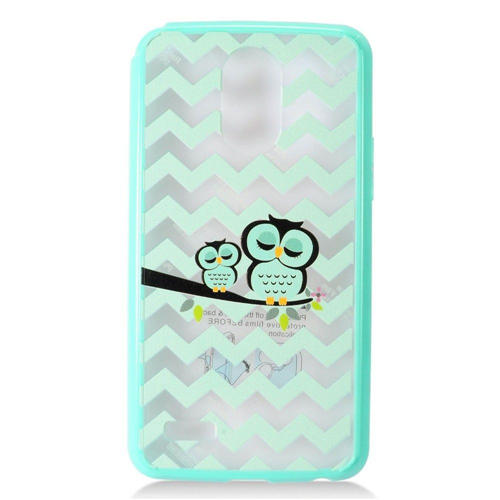 Insten Ultra Slim Owl Hard Clear Plastic TPU Case For LG Stylo 3, Mint Green