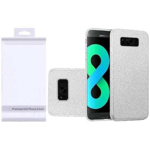 Insten Hard Glitter TPU Case For Samsung Galaxy S8 Plus, Silver