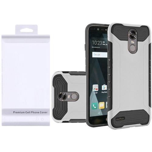 Insten Slim Armor Hard Dual Layer Plastic TPU Case For LG Stylo 3, White/Black