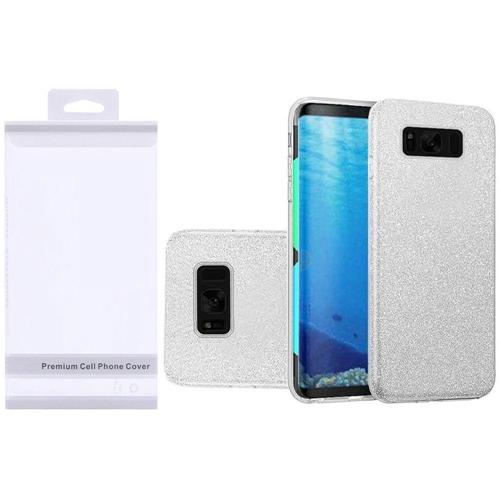 Insten Hard Glitter TPU Case For Samsung Galaxy S8, Silver