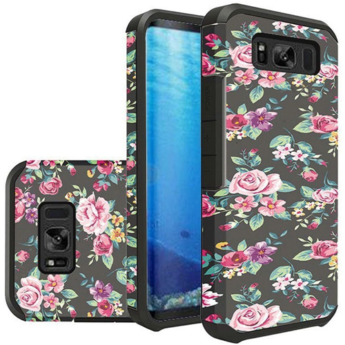 Insten Slim Tropical Flowers Hard Hybrid Plastic TPU Cover Case For Samsung Galaxy S8, Multi-Color
