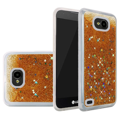 Insten Quicksand Hard Glitter Case For LG X Venture, Gold