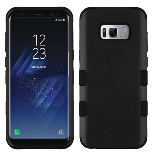 Insten Tuff Hard Dual Layer TPU Case For Samsung Galaxy S8, Black