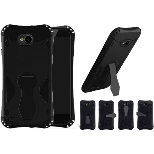 Insten 360 Rotation Hard Dual Layer Plastic TPU Cover Case w/stand For LG X Venture, Black