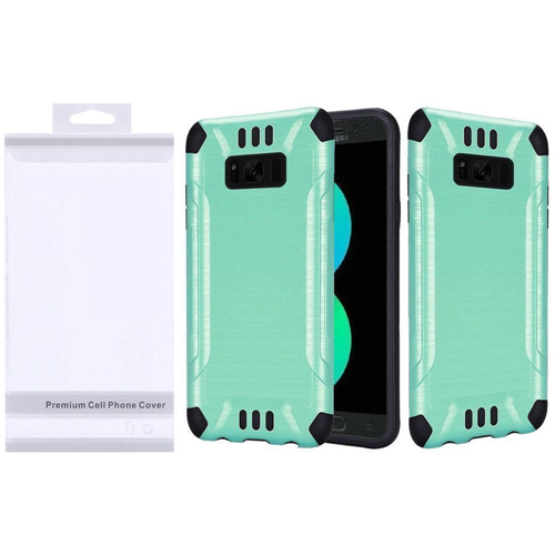 Insten Slim Armor Hard Dual Layer Brushed TPU Cover Case For Samsung Galaxy S8 Plus, Teal/Black