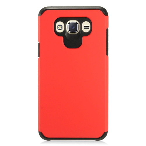 Insten Hard Hybrid TPU Case For Samsung Galaxy J7 (2016), Red/Black