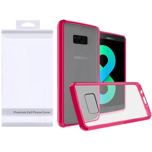 Insten Hard Plastic TPU Cover Case For Samsung Galaxy S8 Plus, Clear/Hot Pink