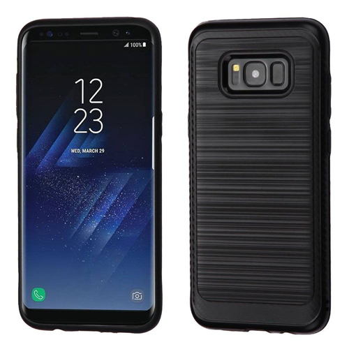 Insten Hard Hybrid Brushed TPU Case For Samsung Galaxy S8, Black