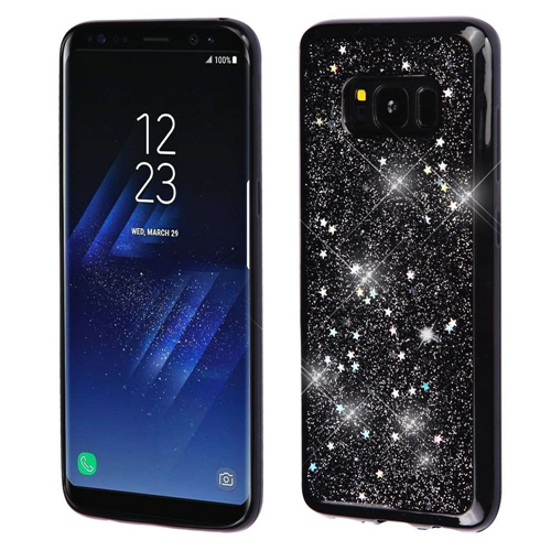 Insten Starry Sky Gel Cover Case For Samsung Galaxy S8 Plus, Black/Silver