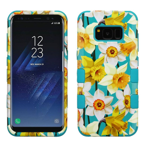 Insten Tuff Spring Daffodils Hard Hybrid Plastic TPU Cover Case For Samsung Galaxy S8, Colorful