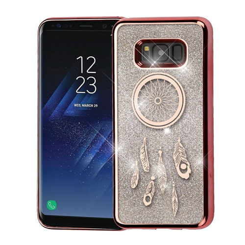 Insten Quicksand Dreamcatcher Hard Plastic Chrome Case For Samsung Galaxy S8 Plus, Rose Gold/Silver