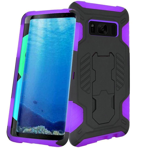 Insten Fitted Hard Shell Case for Samsung Galaxy S8 - Black;Purple