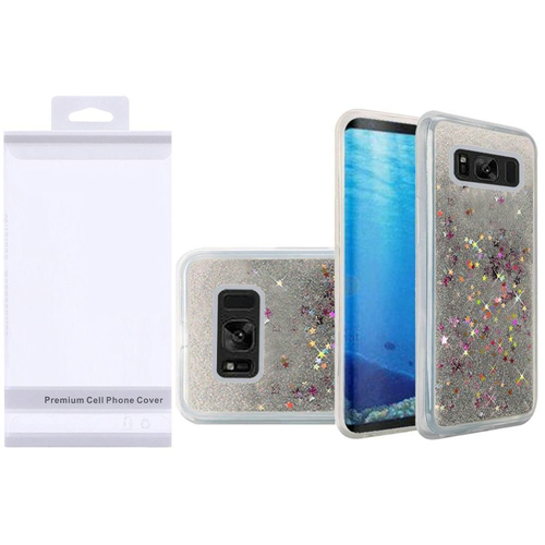 Insten Quicksand Hard Glitter TPU Cover Case For Samsung Galaxy S8, Silver