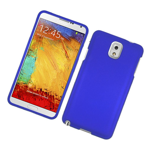 Insten Hard Rubberized Cover Case For Samsung Galaxy Note 3, Blue