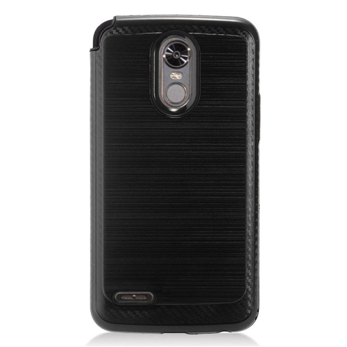 Insten Chrome Brushed Hard Case For LG Stylo 3, Black