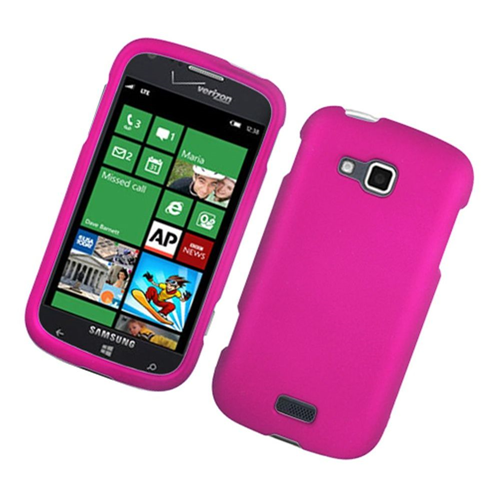 Insten Hard Rubber Cover Case For Samsung ATIV Odyssey, Hot Pink