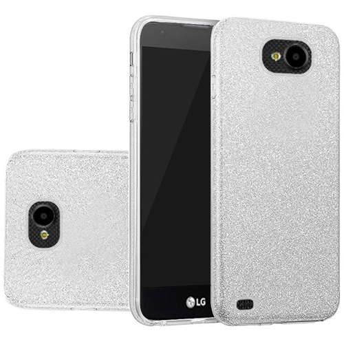 Insten Hard Glitter TPU Cover Case For LG X Venture, Silver