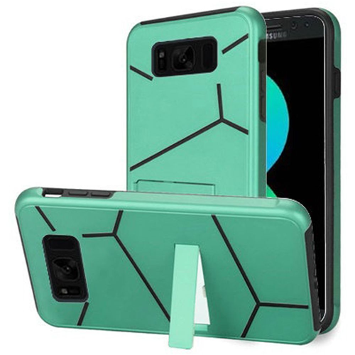 Insten Hard Hybrid Plastic TPU Cover Case w/stand For Samsung Galaxy S8 Plus, Teal/Black