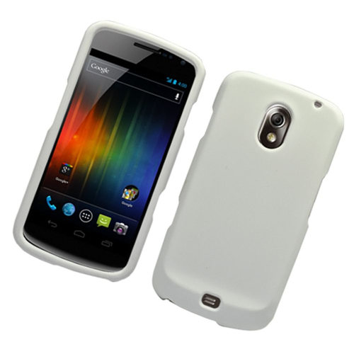 Insten Hard Rubber Coated Cover Case For Samsung Galaxy Nexus Prime i515, White