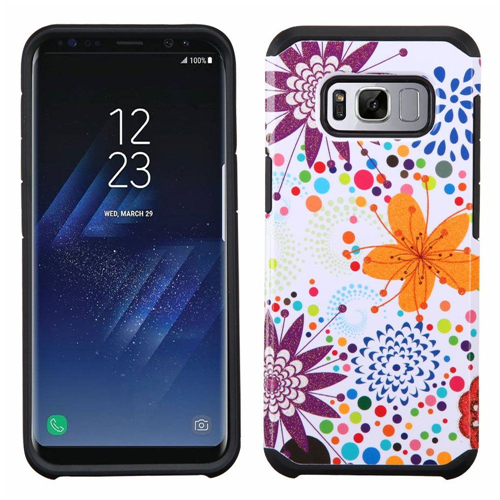 Insten Advanced Armor Flower Buds Hard Dual Layer TPU Cover Case For Samsung Galaxy S8, Colorful