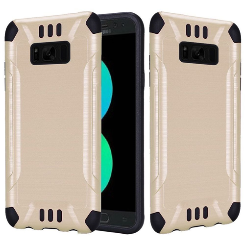 Insten Hard Hybrid Brushed TPU Case For Samsung Galaxy S8 Plus, Gold/Black
