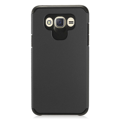 Insten Hard Dual Layer TPU Cover Case For Samsung Galaxy J7 (2016), Black