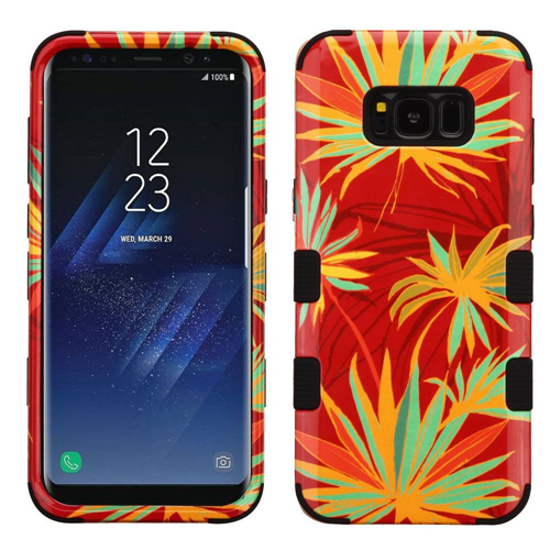 Insten Tuff Palm Paradise Hard Dual Layer Plastic TPU Case For Samsung Galaxy S8 Plus, Multi-Color