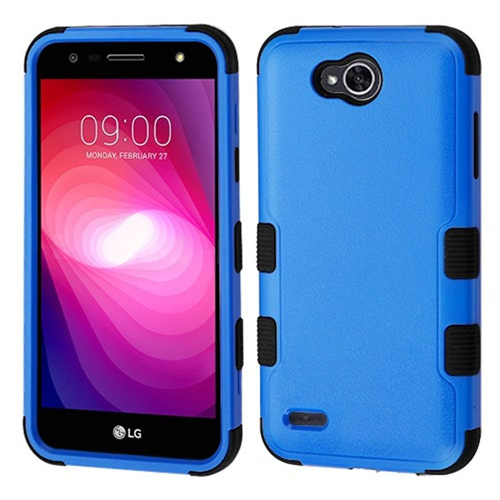 Insten Tuff Hard Hybrid Plastic TPU Cover Case For LG X Power 2, Blue/Black