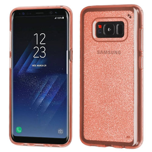 Insten Glitter TPU Clear Case For Samsung Galaxy S8, Rose Gold