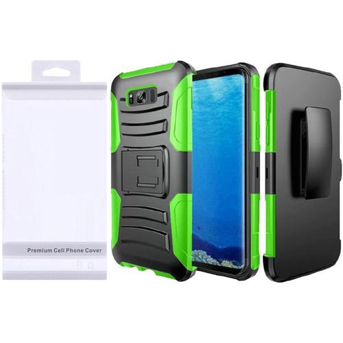 Insten Holster Case for Samsung Galaxy S8 - Neon Green;Black