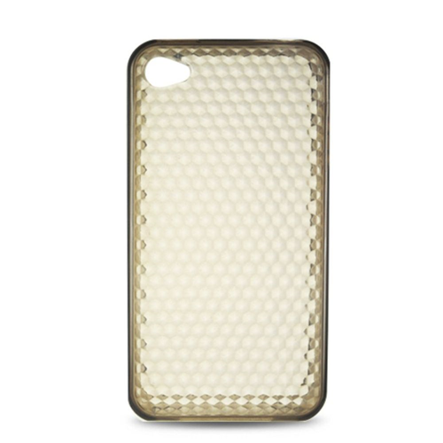 Insten Rubber Clear Cover Case For Apple iPhone 4, Smoke