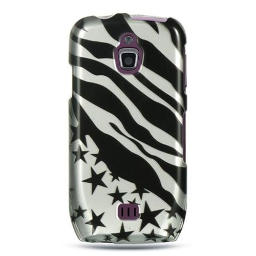 Insten Zebra/Star Hard Plastic Case For Samsung Exhibit 4G T759, Black/Silver