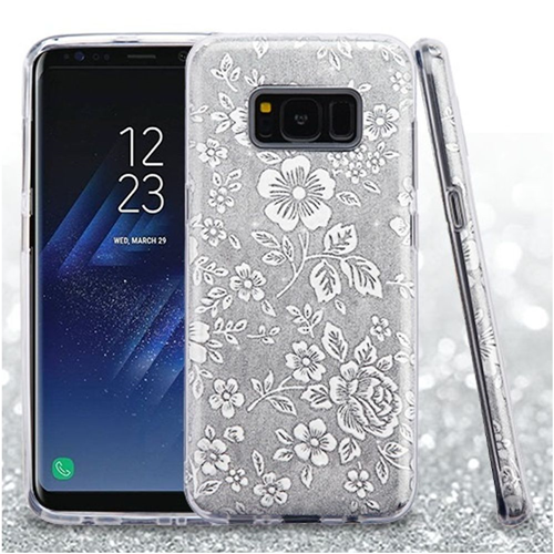 Insten Fitted Soft Shell Case for Samsung Galaxy S8 Plus - Silver