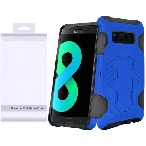 Insten SuperCoil Hard Dual Layer Plastic Case w/stand For Samsung Galaxy S8 Plus, Blue/Black