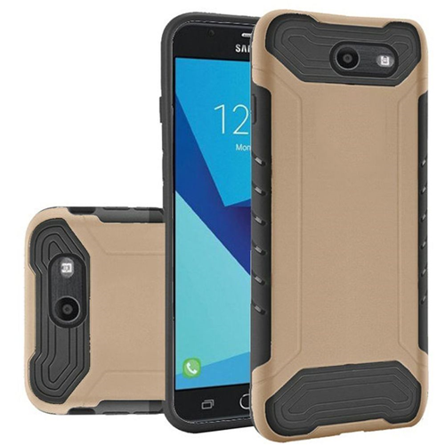 Insten Slim Armor Hard Case For Samsung Galaxy Halo/J7 (2017)/J7 Perx/J7 Prime/J7 Sky Pro/J7 V, Gold