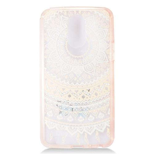 Insten Ultra Slim Sunflower Hard Clear Plastic TPU Cover Case For LG Stylo 3, Light Pink