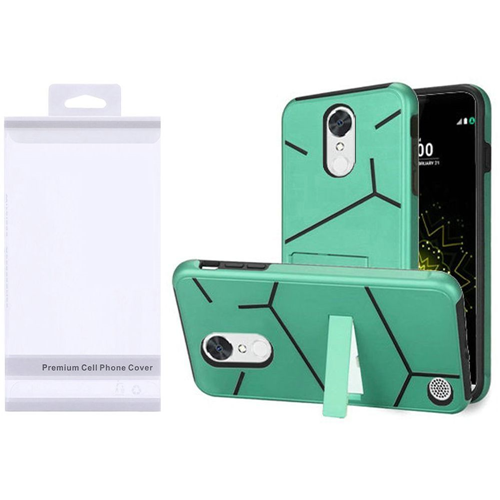 Insten Hard Hybrid Plastic TPU Case w/stand For LG Grace 4G/Harmony/K20 Plus/K20 V, Teal/Black