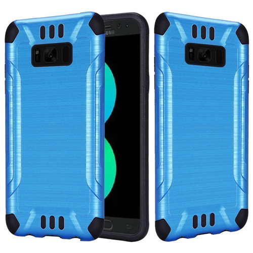 Insten Hard Hybrid Brushed TPU Cover Case For Samsung Galaxy S8 Plus, Blue/Black