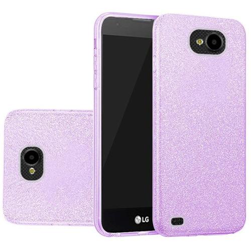 Insten Hard Glitter TPU Case For LG X Venture, Purple